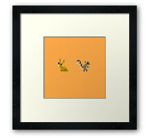 Rabbit + Squirrel Framed Print