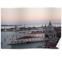 Dusk Over Venice Poster