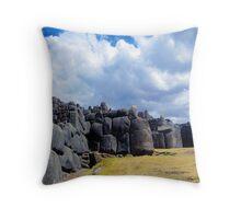saqsayhuaman ruins above cusco peru Throw Pillow