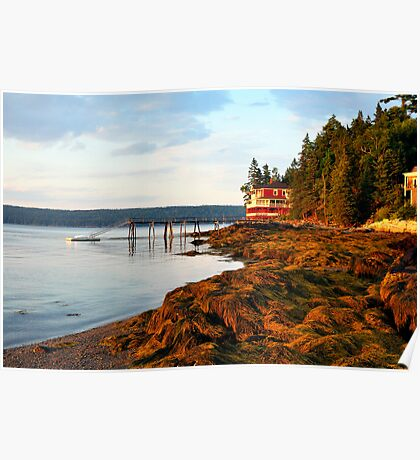 House at the end of the Road, Deer Isle, Maine Poster