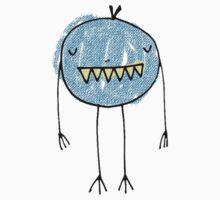 Spooky Monsters - short blue Kids Clothes