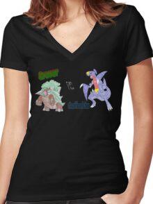 Grover vs. Gaafhadrim Women's Fitted V-Neck T-Shirt