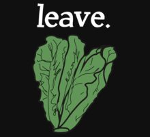 leave. 2 (romaine lettuce) <white text> One Piece - Short Sleeve