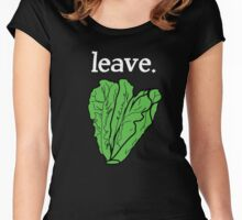 leave. 2 (romaine lettuce) <white text> Women's Fitted Scoop T-Shirt