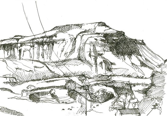 Ingleborough sketch by Roger Stannard