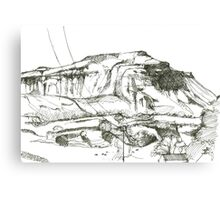 Ingleborough sketch Canvas Print
