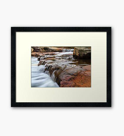 Noble falls, Perth hill's , Western Australia Framed Print