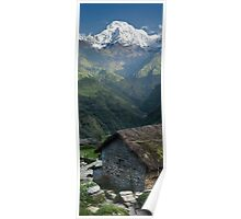 A view of Mt. Machapuchare view from Tolka Poster
