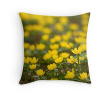 Winter Aconite Throw Pillow