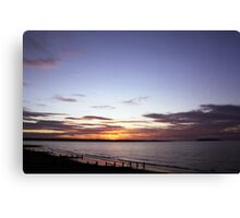 Sunset on Llanfairfechan beach. Canvas Print