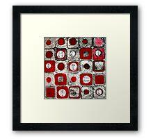 Musical Squares Framed Print