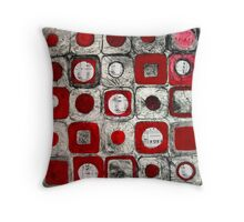 Musical Squares Throw Pillow