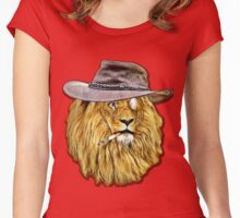 LION SMOKING Women's Fitted Scoop T-Shirt