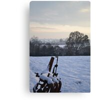 Plough in the snow Canvas Print