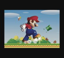 Old School Mario Stomping Kids Clothes