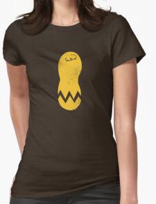 cracked peanut (minimalism) Womens Fitted T-Shirt