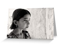 Girl in thought Greeting Card