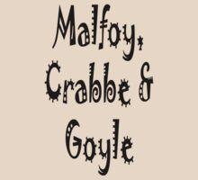 Malfoy, Crabbe & Goyle by eggnog