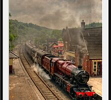 8624 at Froghall Station Framed by David J Knight