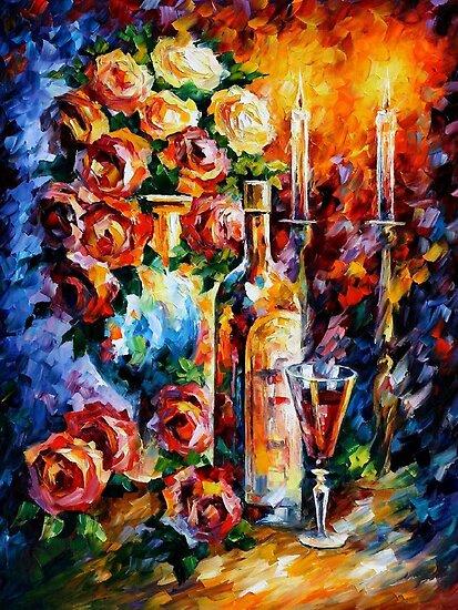 RED WINE by Leonid  Afremov