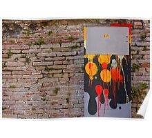 Splashing colors Poster