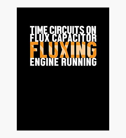 Back To The Future - Fluxing - White Clean Photographic Print