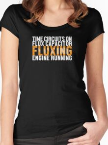 Back To The Future - Fluxing - White Clean Women's Fitted Scoop T-Shirt