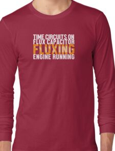 Back To The Future - Fluxing - White Clean Long Sleeve T-Shirt