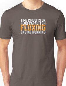 Back To The Future - Fluxing - White Clean Unisex T-Shirt