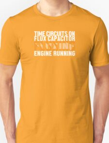 Back To The Future - Fluxing - White Clean T-Shirt