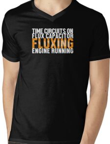 Back To The Future - Fluxing - White Clean Mens V-Neck T-Shirt