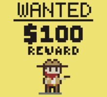 8-bit Wanted Poster Kids Tee