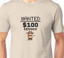 8-bit Wanted Poster Unisex T-Shirt