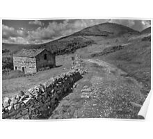 Barn Above The Swale Poster