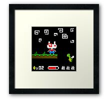 Super Mario Bunnies Framed Print