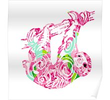 Lilly Pulitzer Tribal Sloth Poster