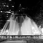 Gore Park Fountain at Night by Allan Hamilton