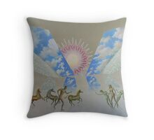 Canvas painting Jason finds Medea Throw Pillow