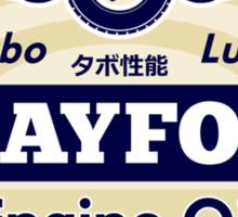 Crayford Engine Oil Sticker