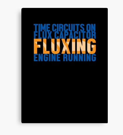 Back To The Future - Fluxing - Colored Clean Canvas Print