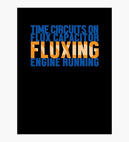 Back To The Future - Fluxing - Colored Clean Photographic Print