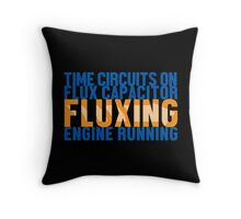 Back To The Future - Fluxing - Colored Clean Throw Pillow