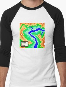 Pixel Topography Men's Baseball ¾ T-Shirt