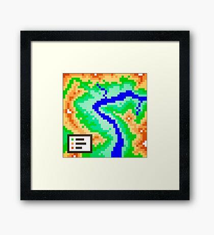 Pixel Topography Framed Print
