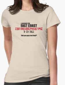 EARTHQUAKEPOCALYPSE 2011 Womens Fitted T-Shirt