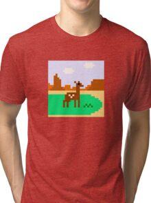 Deer in Meadow Tri-blend T-Shirt