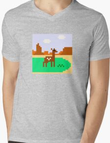 Deer in Meadow Mens V-Neck T-Shirt