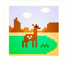 Deer in Meadow Art Print