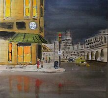 Main Street Oshkosh WI by Jack G Brauer