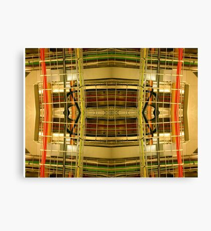 industrial collage II Canvas Print